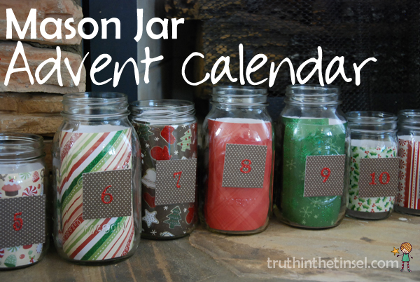 Mason Jar Advent Calendar from ohAmanda.com