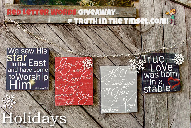 red letter words giveaway at truthinthetinsel.com