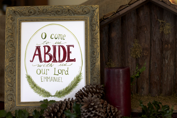 abide with us print from besmallstudios.com