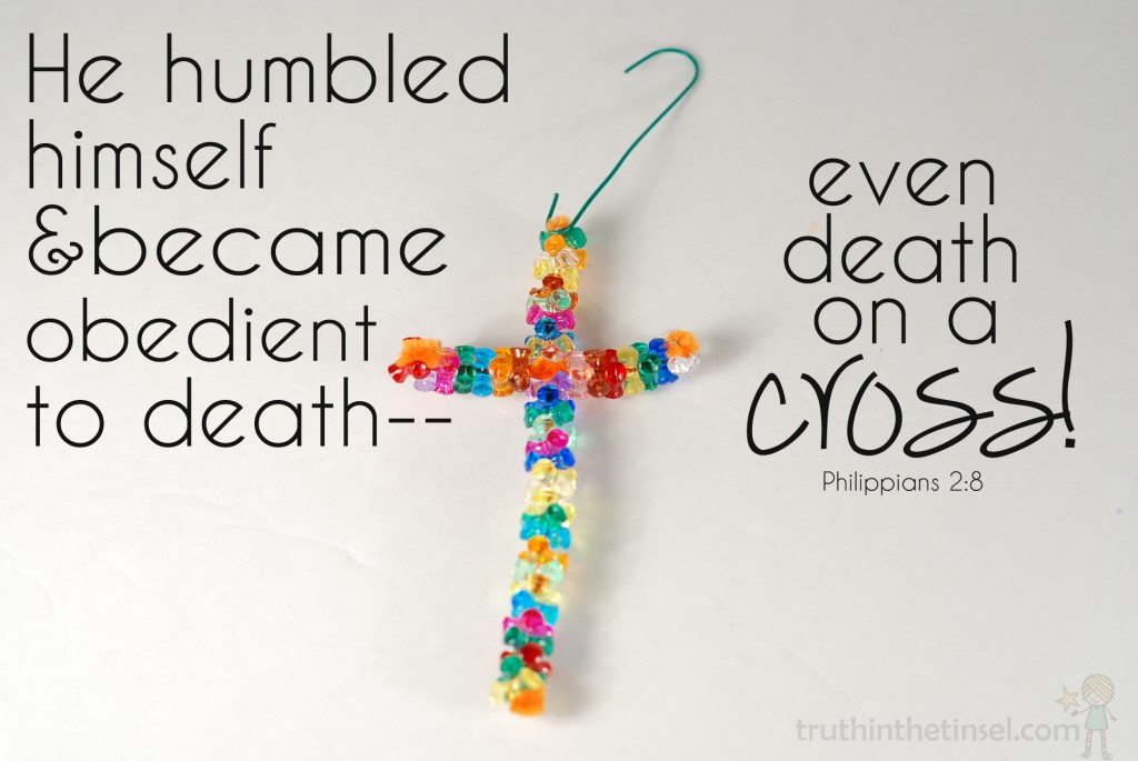 Jesus was born to die. Celebrating the cross at Christmas. #truthtinsel