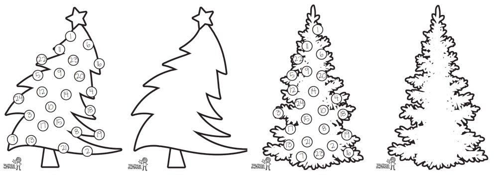 picture about Printable Pictures of Trees identified as Printable Xmas Trees!
